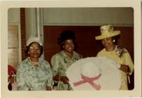 YWCA Hat Making Class, 1966, Lucile Pagers, Thelma Caldwell, Lucille Smith