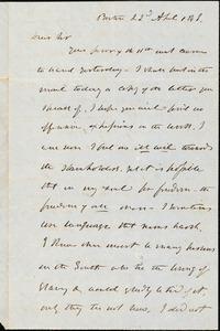Letter from Theodore Parker, Boston, [Massachusetts], 1848 April 22
