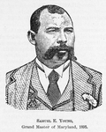 Samuel E. Young; Grand Master of Maryland, 1895