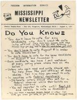 Mississippi Newsletter No. 24