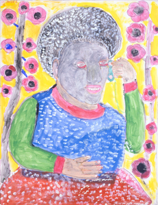 Untitled (Black Woman and Flowers)
