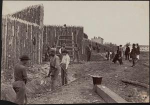 Building stockade at Alexandria, Virginia