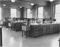 Interior of biology/geology lab, old room 307, 1954
