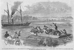 Negroes escaping from Beaufort, S.C., with plunder from the abandoned residences of these masters, stopped by U.S. Gunboat Seneca