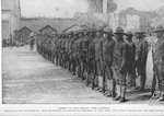 Lined up and ready for action; Members of the 15th Infantry