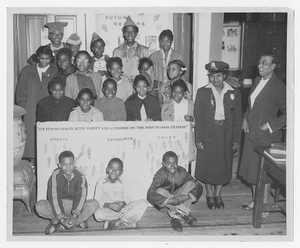 Photograph of a vacation reading club party at the Athens Regional Library, Dunbar Branch, Athens, Georgia, 1954 November
