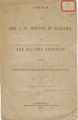 """""""Speech of Hon. F. W. Bowdon, of Alabama, ont he Slavery Question,"""" an address delivered in the United States House of Representatives."""