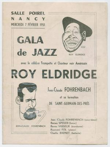 Program for Roy Eldridge at the Salle Poirel