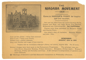 Thumbnail for Invitation to Niagara Movement 1906 Meeting