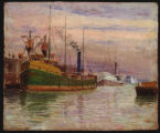 Steamer at dock
