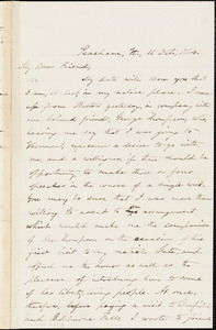Letter from Oliver Johnson, Peacham, V[ermon]t, to Samuel May, 1864 Oct[ober] 15