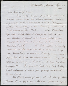Letter from Samuel May, 21 Cornhill, Boston, [Mass.], to Anne Warren Weston, Sept. 14, 1848