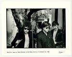 Bob Dylan, Tom Law, and Robbie Robertson at the Castle, Las Feliz, Los Angeles, 1965