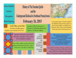 History of the Freedom Quilts and the Underground Railroad in Northeast Pennsylvania, 2015