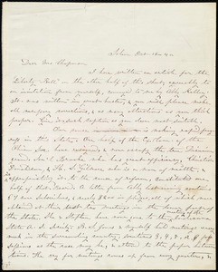 Letter from Jane Elizabeth Hitchcock, Salem, [Ohio], to Maria Weston Chapman, Oct. 16, [18]45
