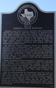 Texas Historical Commission Marker: Terrell High School