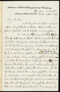Letter from Gertrude K. Burleigh to William Lloyd Garrison, April 12th