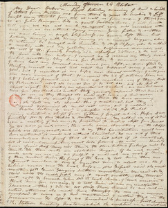Letter from Mary Weston, [Weymouth, Mass.], to Deborah Weston, Monday afternoon, 24 October [1836]