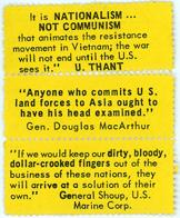 Night Raiders--It Is Nationalism… Not Communism That Animates The Resistance Movement In Vietnam; The War Will Not End Until The U.S. Sees It.--U. Thant