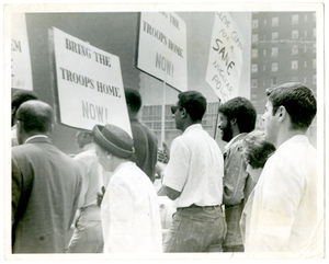 Photograph: Cleveland Sellers and Stokely Carmichael March at Anti-War Rally