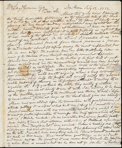 Thumbnail for Letter from Simeon Smith Jocelyn, New Haven, [Connecticut], to William Lloyd Garrison, 1832 July 12