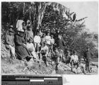 Thumbnail for Two Belgian priests and Igorot school boys on a picnic, Philippines, ca. 1900-1920