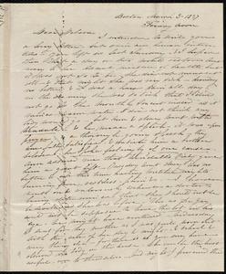 Letter from Caroline Weston, Boston, [Mass.], to Deborah Weston, March 3, 1837, Friday noon