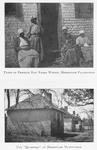"Types of present day Negro women, Hermitage Plantation. ; The ""Quarters"" at Hermitage Plantation"