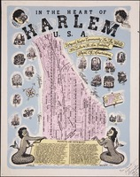 In the Heart of Harlem cartoon map