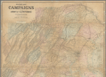 Military map refering to the campaigns of the Army of the Potomac in Virginia