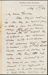 Letter from James Miller M'Kim, Philadelphia, [Pa.], to William Lloyd Garrison, May 3 / [18]64