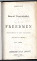 Title page of Report of Freedmen's Department of Tennessee
