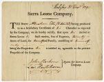 Certificate of character