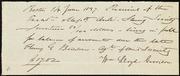 Receipt] [manuscript