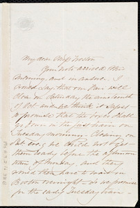 Letter from Sarah L. Butman to Miss Weston, [Oct. 1850?]