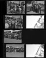 Set of negatives by Clinton Wright of the Boys Club camping trip, 1966