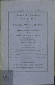 Journal of Proceedings and Year Book of the Second Annual Session of the Tampa Florida Conference