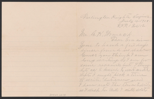 Letter from Julia Jordan to G. H. Womack