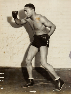 John Henry Lewis, full length portrait as boxer