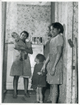 Children of defense worker; Negro slum district, Norfolk,Va., Mar. 1940