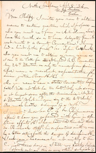 Letter from Guy C. Sampson, North Goshen, to Amos Augustus Phelps, Apl. 8. 36