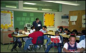 Students and Teacher in Gates Elementary Classroom San Antonio Chapter of Links Records