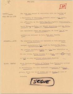 News Script: FBI list NBC News Scripts