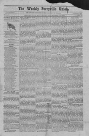 Newspaper issue of The Weekly Perryville Union, November 14, 1862