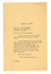 Letter from W. E. B. Du Bois to Consulate of Liberia
