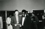 County Librarian Linda Crismond with Actor Brock Peters at African American Living Legends Program