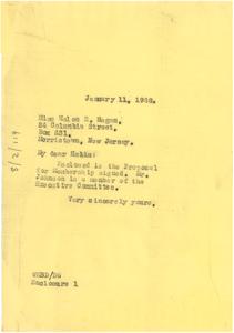 Letter from W. E. B. Du Bois to Helen E. Hagan