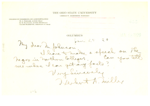 Letter from Herbert A. Miller to N.A.A.C.P.