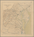 Eastern Virginia showing the positions of the armies on March 15, 1862