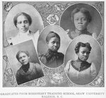 Graduates from missionary training school, Shaw University, Raleigh, N.C